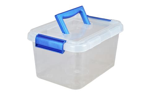 3 5 litre plastic storage boxes with clip on lids and