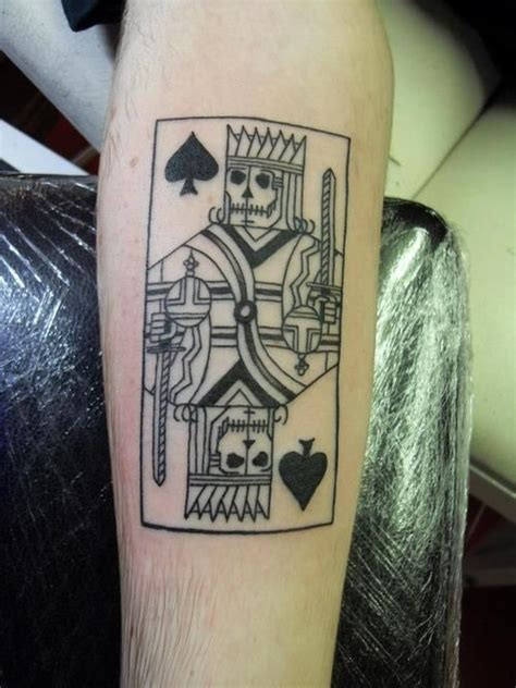 playing card tattoo card tatt graphic