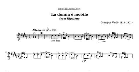 la donna 232 mobile from rigoletto g verdi free flute