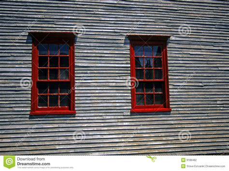 windows on houses red windows on 19th century clapboard house stock photography image 9188482