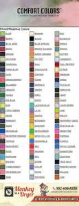 comfort colors color swatch swatch chart comfort colors mn monkey in a