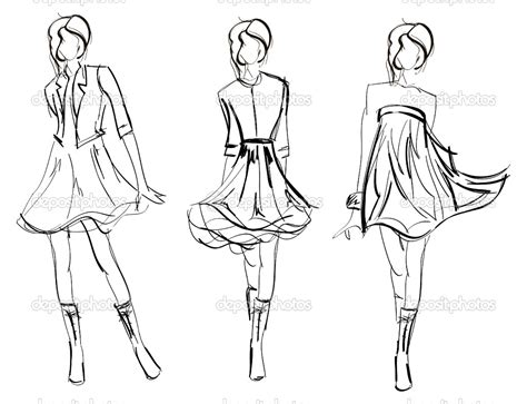 fashion model coloring pages sketch coloring page
