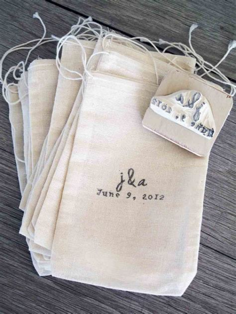 personalized wedding rubber sts custom wedding favor bags and rubber st e1346067086477