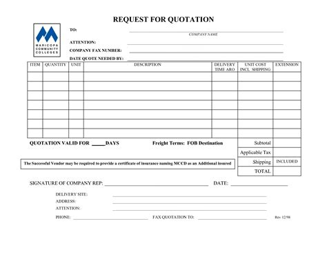 insurance quote request form template 44billionlater