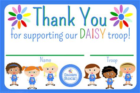 printable thank you cards girl scouts my fashionable designs girl scouts daisies thank you cards
