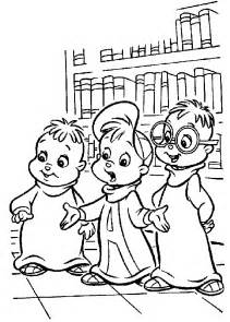alvin chipmunks coloring pages printable