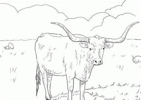 texas longhorn coloring page az coloring pages