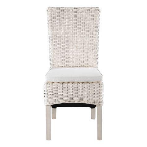 chaise kubu chaise en demi kubu blanc lot de 2 zago store