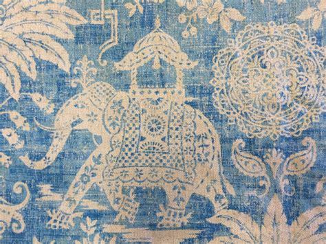 elephant upholstery fabric moroccan elephant ocean blue elephant fabric upholstery