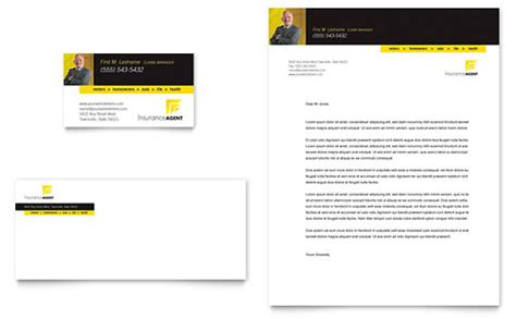 insurance agent business card letterhead template