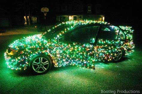 fa la la la festive christmas lights on cars to brighten