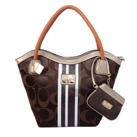 couch factory coach legacy logo in monogram large coffee totes bqg