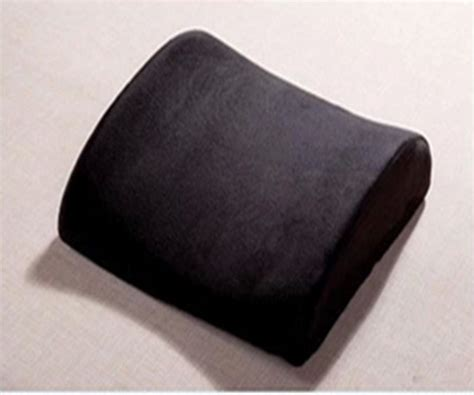 Car Seat Wedge Pillow by Black Lumbar Cushion Car Pillow Seat Support Back