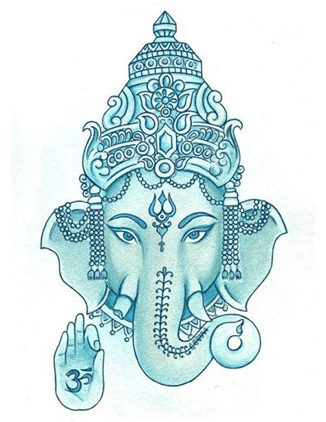 blue ganesha tattoo ganesha tattoos pinterest patterns affirmations and
