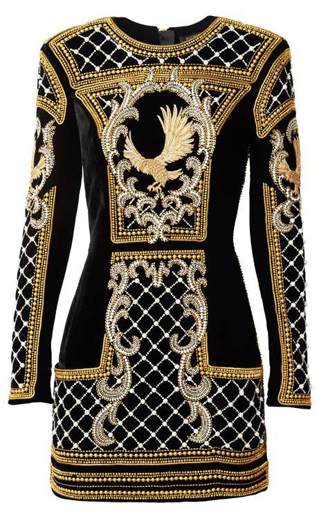 balmain x h m beaded dress what s haute