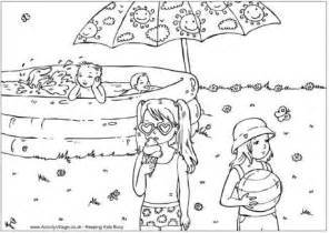 paddling pool colouring page