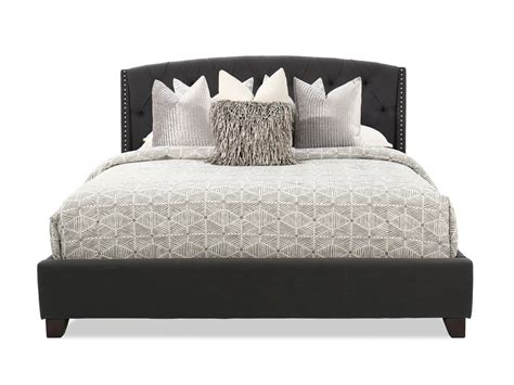 Gray Tufted by 55 Quot Contemporary Button Tufted Bed In Gray Mathis