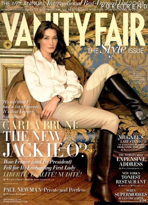 Best Vanity Fair Articles by Mannequins Italiens Notre Top 5 Carla Bruni Couverture