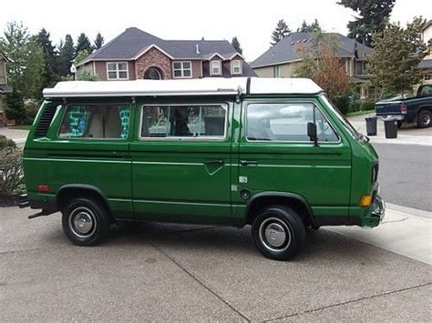 Vw Cer Awnings buy used 1984 vw westfalia cer with awning fully rebuilt motor in portland oregon