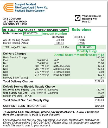Utility Bill Lookup By Address Utility Bill Sles Avalon Energy Consultants