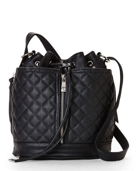 Steve Madden Backpack by Lyst Steve Madden Black Quilted Backpack In Black