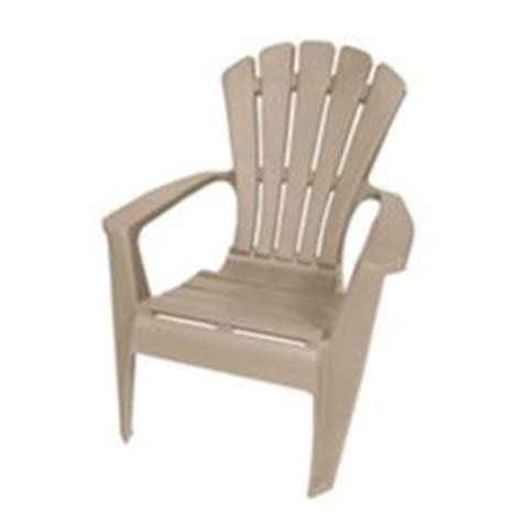 gracious living king sized resin adirondack patio chair