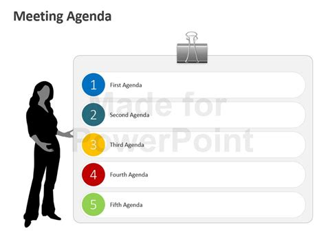 Meeting Agenda Business Ppt Slides Microsoft Powerpoint Agenda Template
