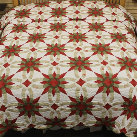 wedding ring quilt for sale wedding ring quilt with wedding ring