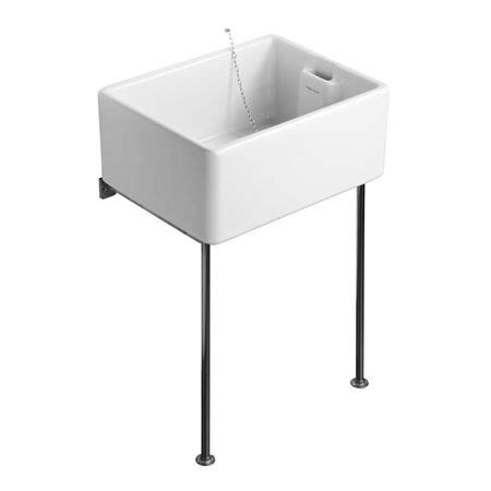 wall mount sink legs butlers sinks in two sizes with legs brackets and waste