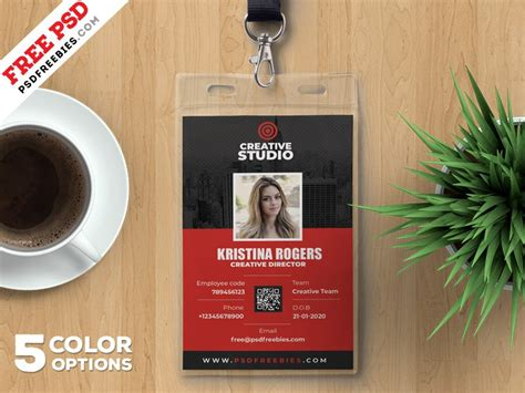 Press Id Card Template Psd by Employee Identity Card Template Psd Psd
