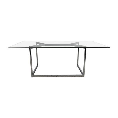 Cb2 Glass Dining Table Cb2 Glass Table Decorative Table Decoration