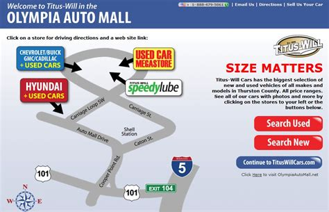 ford dealer olympia auto mall titus will cars washington s 1 new used car megastore