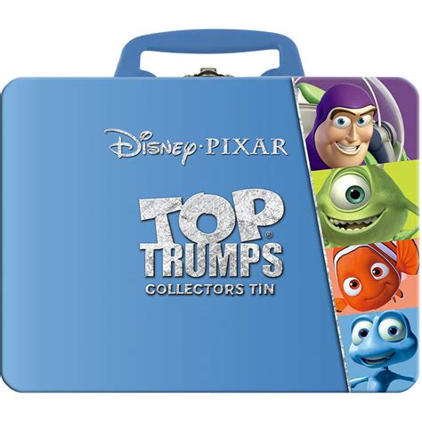 tin pixar top trumps collectors tin pixar pop in a box uk
