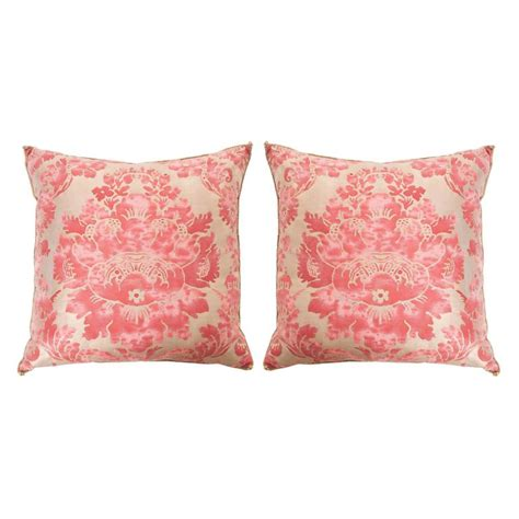 Textile Pillows by Pair Of Antique Fortuny Textile Pillows By B Viz Designs
