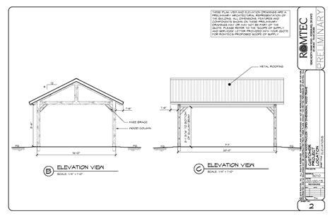 plans perspectives and elevations of timber pavilions dimensional lumber pavilions romtec inc