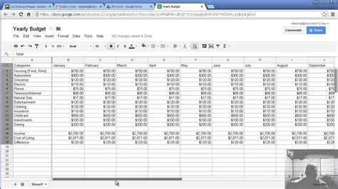 Create A Spreadsheet Free by How To Make A Budget Sheet Vertola