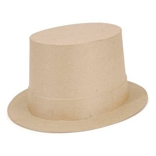 How To Make Paper Top Hats - paper mache top hats and paper on