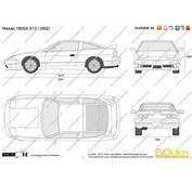 The Blueprintscom  Vector Drawing Nissan 180SX S13