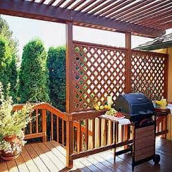 Using lattice for privacy on a deck image mag