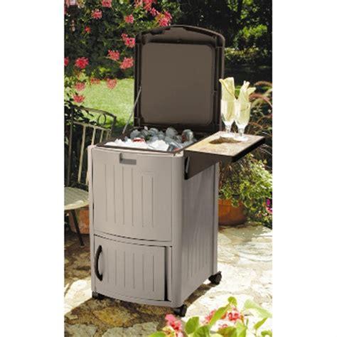 Decorative Coolers by Suncast 174 Cooler Station Patio Cooler 138453 Decorative