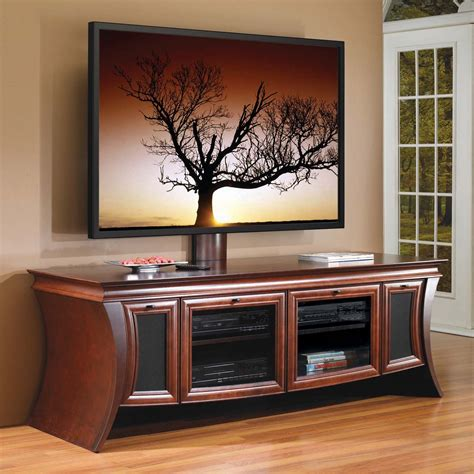 Brown Wooden Flat Screen Tv Stand Console Media