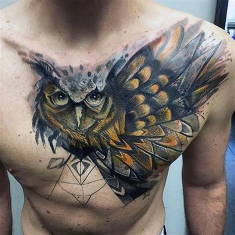 owl tattoo breast picture of beautiful owl tattoo on the chest