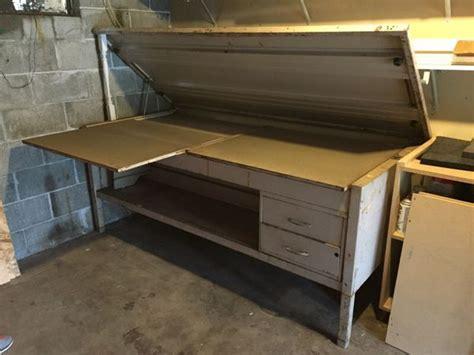 Vintage Metal Drafting Table Furniture In Kirkland Wa Metal Drafting Table