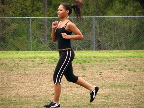 The American Run Running Free Stock Photo A Beautiful American Running By A Fence 5166
