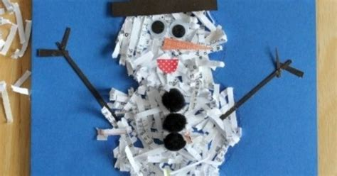 shredded paper crafts 49 amazing snowman craft ideas summer winter and winter