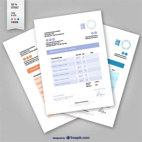 Invoice Design Vector | editable invoice template vector free download