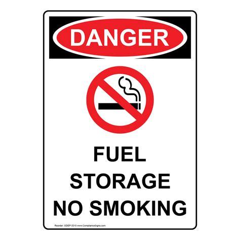 fuel storage no smoking sign osha danger sku s 1846 portrait osha fuel storage no smoking sign with symbol