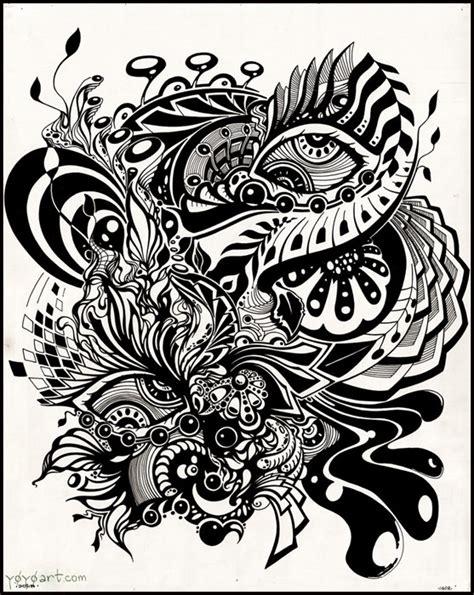 black and white ink patterns inktober j k riki