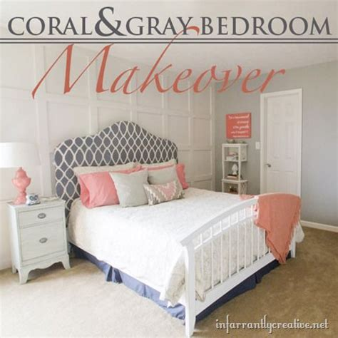 coral grey bedroom coral gray bedroom makeover room reveal infarrantly