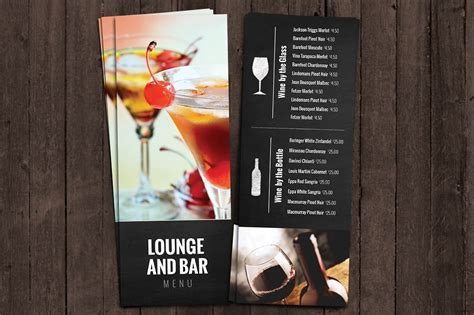 Best Design Resumes by Bar And Lounge Drink Menu Brochure Templates Creative